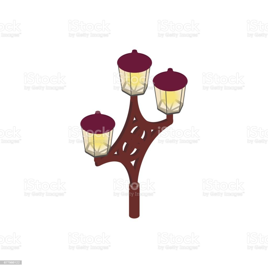 An ornate lamp post icon, isometric 3d style royalty-free an ornate lamp post icon isometric 3d style stock vector art & more images of antique