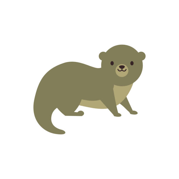 an otter - otter stock illustrations, clip art, cartoons, & icons