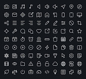 An outline of different vector icons for the web and mobile