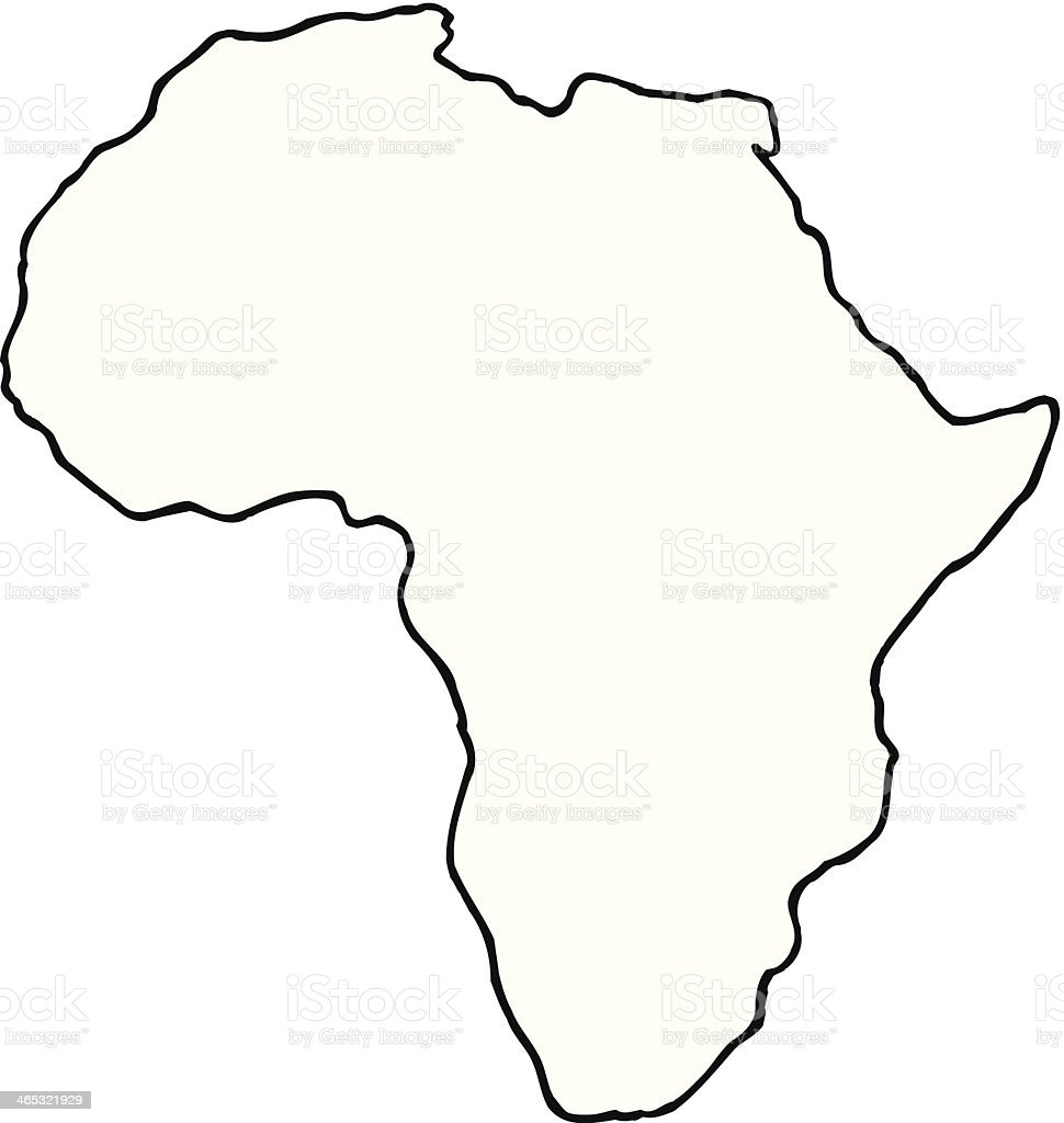 Afrika – Vektorgrafik