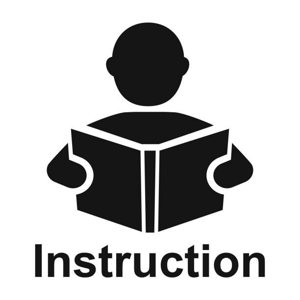 Royalty Free Reading Instructions Clip Art Vector Images