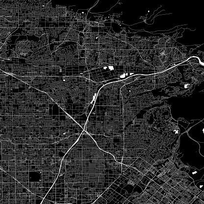 Anaheim, California Vector Map