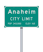istock Anaheim City Limit road sign 1148167503