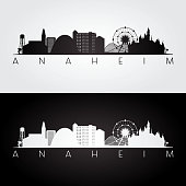 istock Anaheim usa skyline and landmarks silhouette 916824616