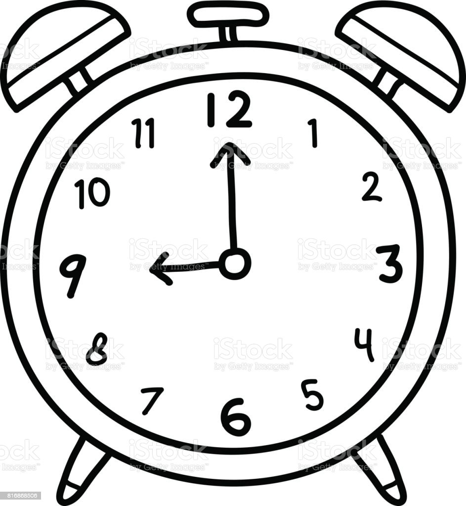 analog alarm clock doodle stock vector art  u0026 more images of alarm 816868506