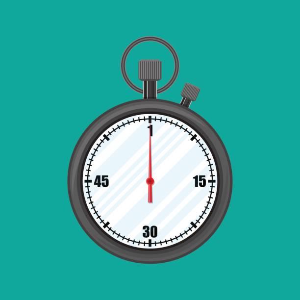 analoge chronometer timer zähler, stoppuhr. - schlüsselfertig stock-grafiken, -clipart, -cartoons und -symbole