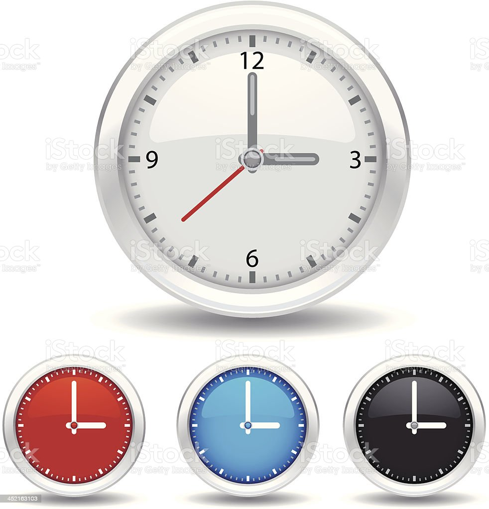 analog clock icon royalty-free stock vector art