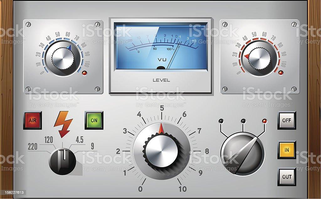 Analog controls interface dashboard vector elements set royalty-free stock vector art