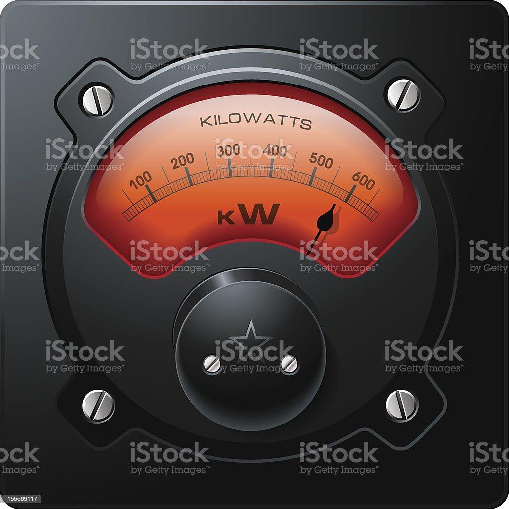 Analog Electrical Power Meter Vector royalty-free stock vector art