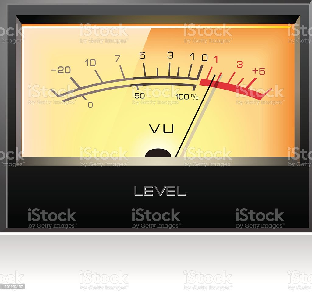 Analog Electronic Vu Meter Vector Stock Art More Images Of 3 Royalty Free