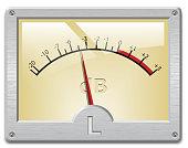 Analog signal meter on white background