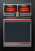 Analog Stereo MP3 Music Media Player vector