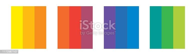 Analogue triad colors, Spectral harmonic scheme.