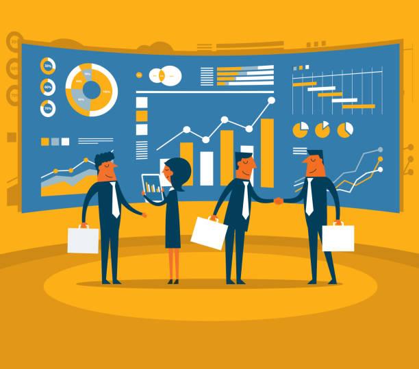 分析 - 投資家点のイラスト素材/クリップアート素材/マンガ素材/アイコン素材