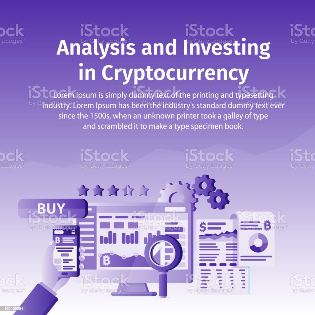 Analysis and Investing in Cryptocurrency. Person working on crypto start up. Blockchain technology. royalty-free analysis and investing in cryptocurrency person working on crypto start up blockchain technology stock vector art & more images of analyzing