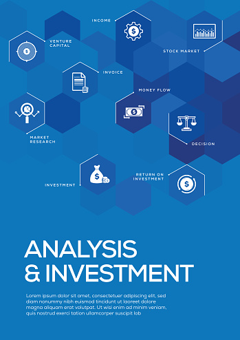 Analysis and Investment. Brochure Template Layout, Cover Design