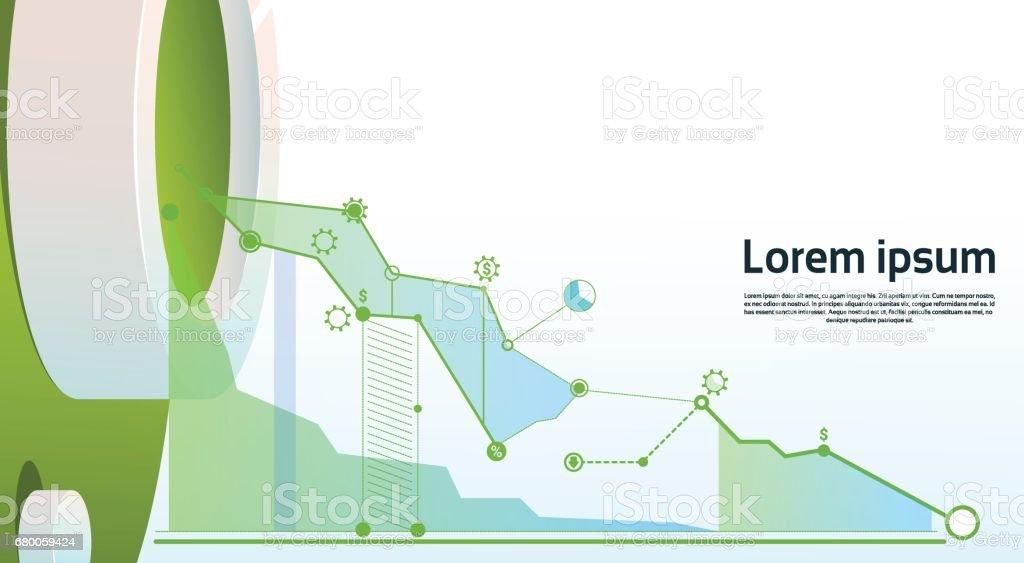 Analyse Finance Graph Finanzgeschäfte Diagramm Textfreiraum – Vektorgrafik