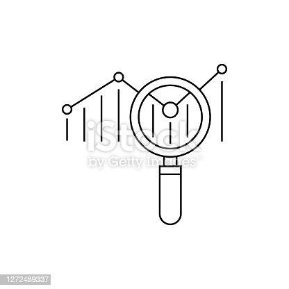 istock Analysis Line Icon 1272489337