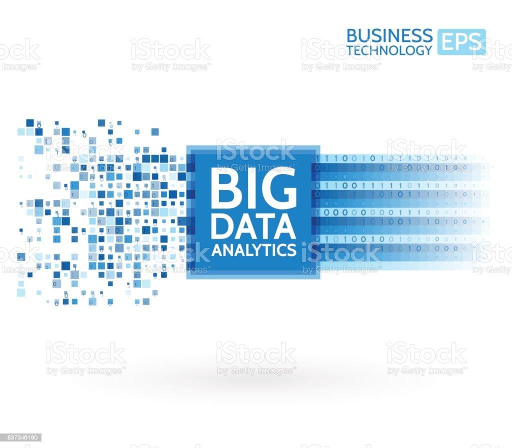 Analysis of Information. Data mining visualization. Abstract digital sorting information. Binary code algorithms
