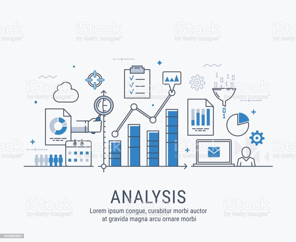 Analysis vector illustration vector art illustration