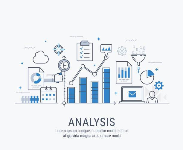 analysis vector illustration - business icons stock illustrations, clip art, cartoons, & icons
