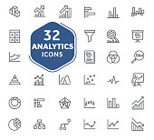 istock analytic icons collection, vector. 1062346060