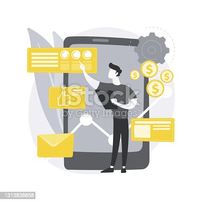 istock Analytics and data science abstract concept vector illustration. 1313838858
