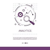 Analytics Financial Business Analysis Web Banner With Copy Space