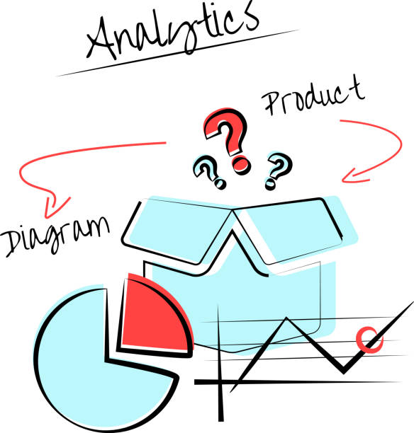 Analytics vector art illustration