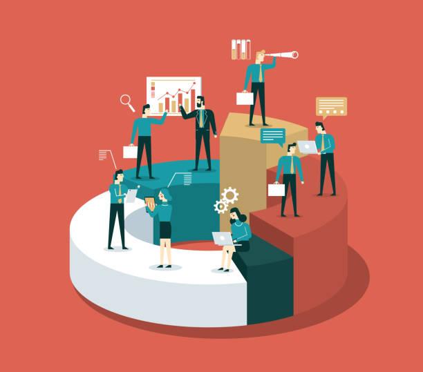 analiza - wykres - menadżer stock illustrations