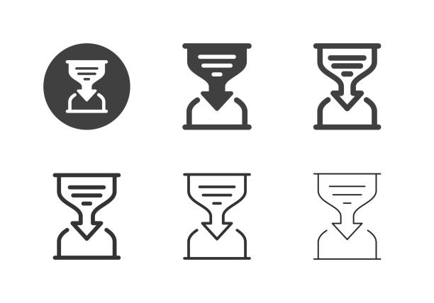 Analyzing Time Icons - Multi Series vector art illustration