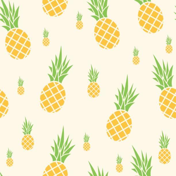 Ananas seamless pattern – artystyczna grafika wektorowa