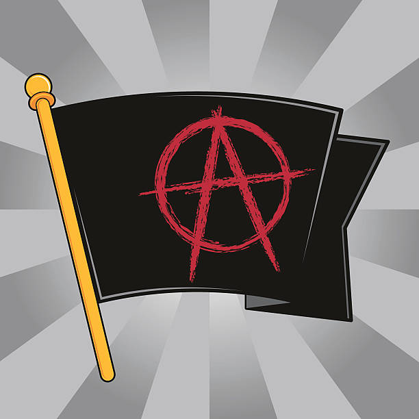 Anarchy Flag (Black) A vector recreation of an Anarchy Flag (black) done in Poster Art style. anarchy symbol stock illustrations