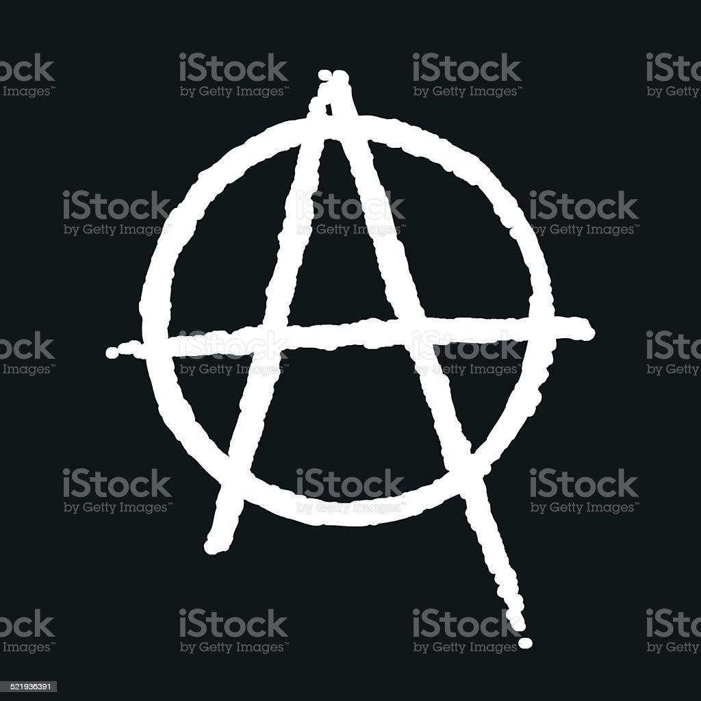 Anarchy icon vector art illustration