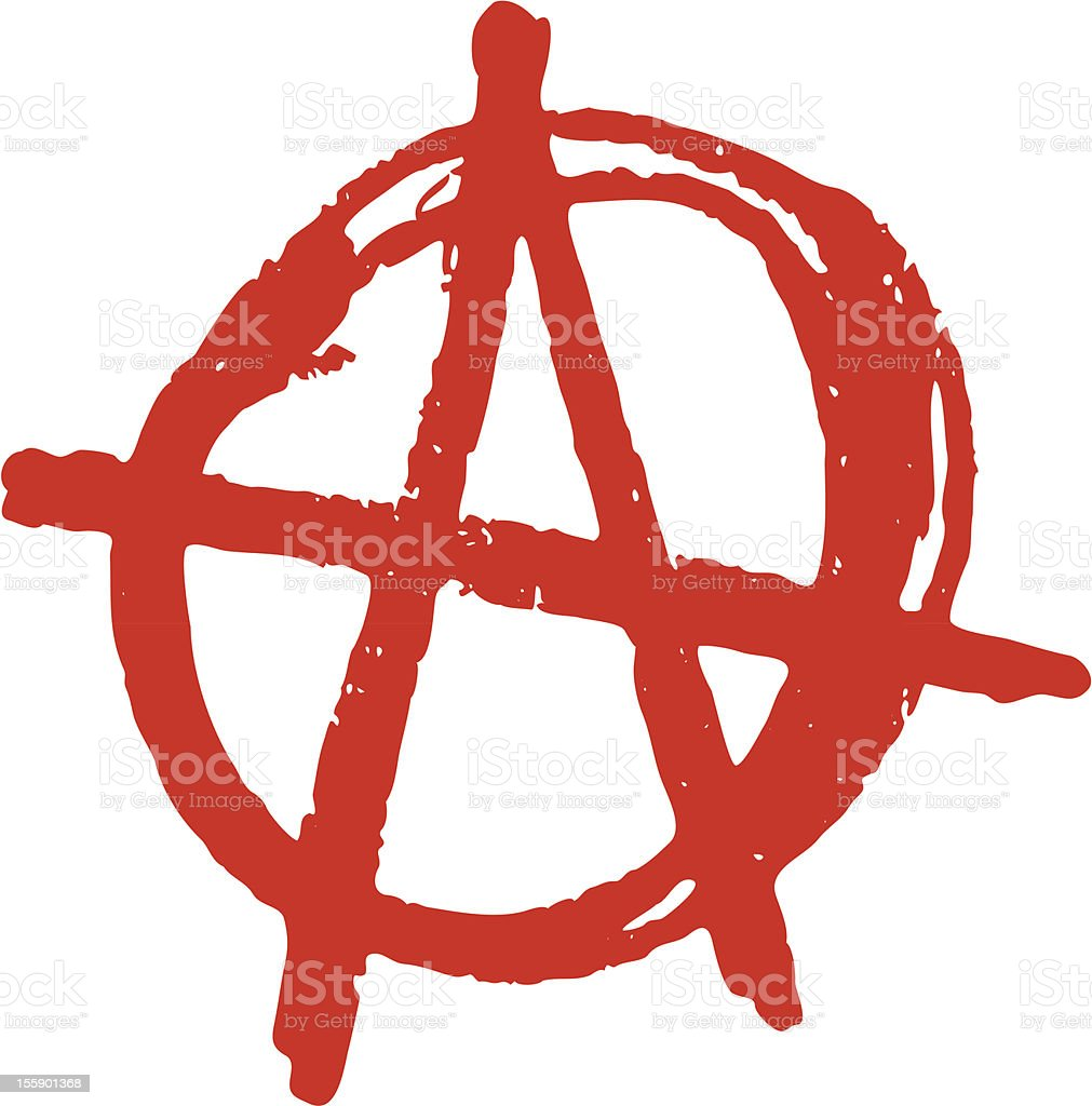 Anarchy vector art illustration