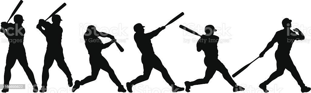 Anatomy of a Home Run vector art illustration