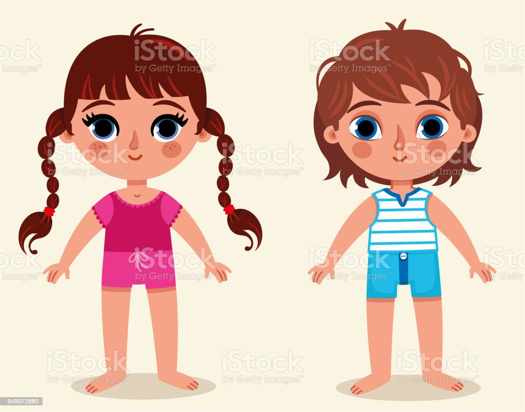 Anatomy Of Body Parts Of A Girl And A Boy Stock Vector Art More