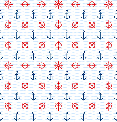 Anchor and Helm Seamless Pattern