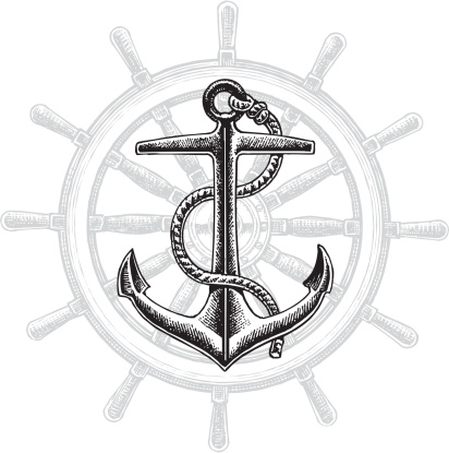 Anchor and Rudder - Nautical Graphic