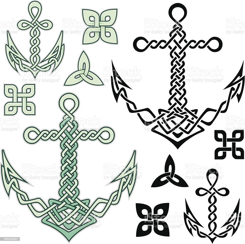 Anchor Celtic royalty-free stock vector art
