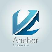 istock Anchor Computer Icon 528745805
