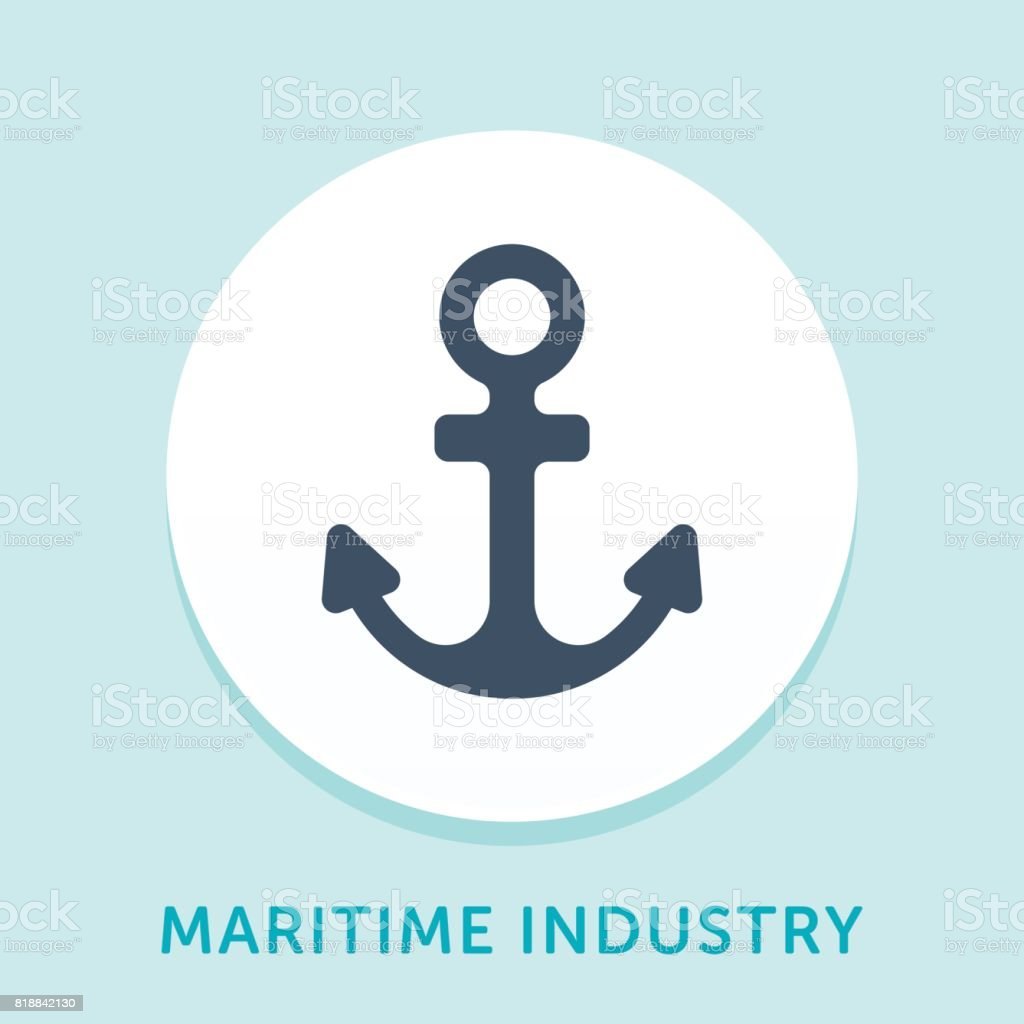 Anchor Curve Icon vector art illustration