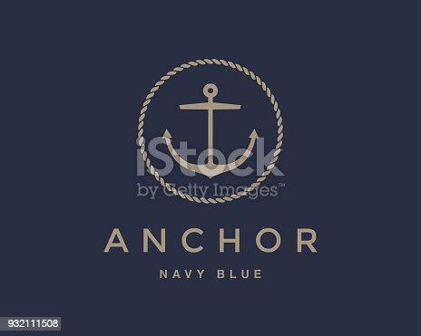 istock Anchor emblem 932111508