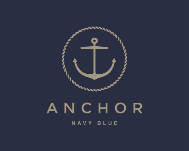 Anchor emblem vector art illustration