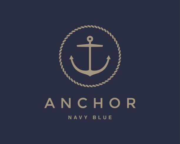anchor emblem - boat stock illustrations