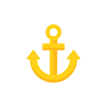 Anchor Flat Icon. Pixel Perfect. For Mobile and Web.