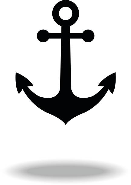 Anchor icon. vector art illustration
