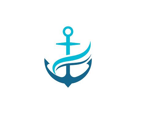 Anchor icon vector illustration