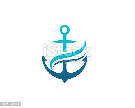istock Anchor icon vector illustration 1051742608