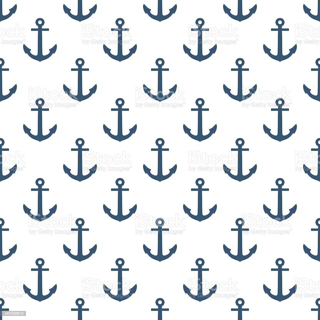 Anchor seamless pattern. vector art illustration